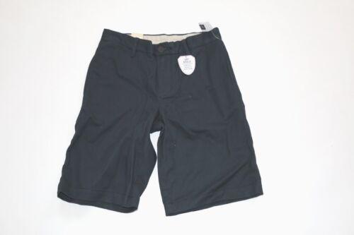 GAP Shield Kids Boys Flat Front Navy Khaki Chino Uniform Shorts NwT 7 8 10 12 14
