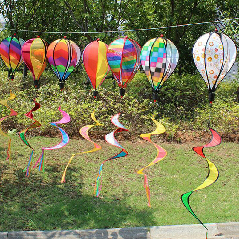 1PC Striped Hot Air Balloon For Children Toy Random Color Gift Wind Spinne_hg