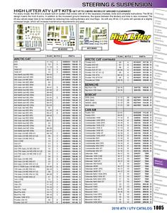 Diesel High Lifter PLK700R-00 ATV Lift Kit For 2011 Bobcat 3400XL 4x4