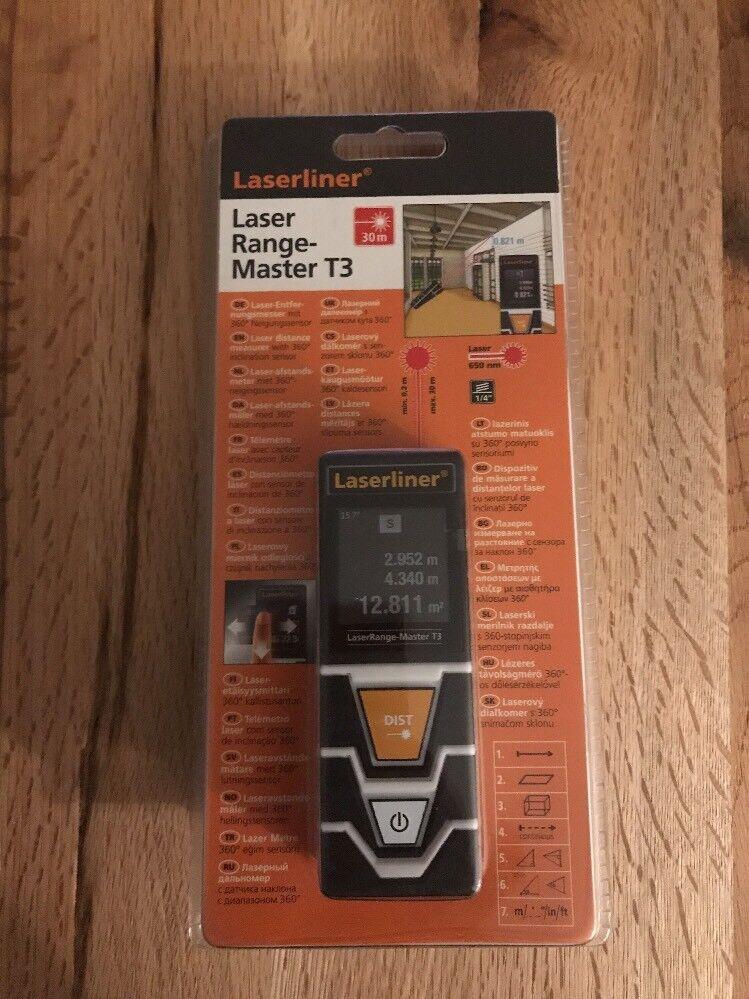 Laserliner Laser Range-Master T3 Laser Entfernungsmesser OVP