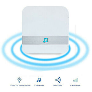 52-Tunes Chime Ding dong UK Plug Wireless WIFI Doorbell ...