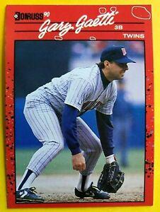 1990 NO Dot INC Period GARY GAETTI Donruss 2 ERRORS MINT Baseball Card 151 RARE