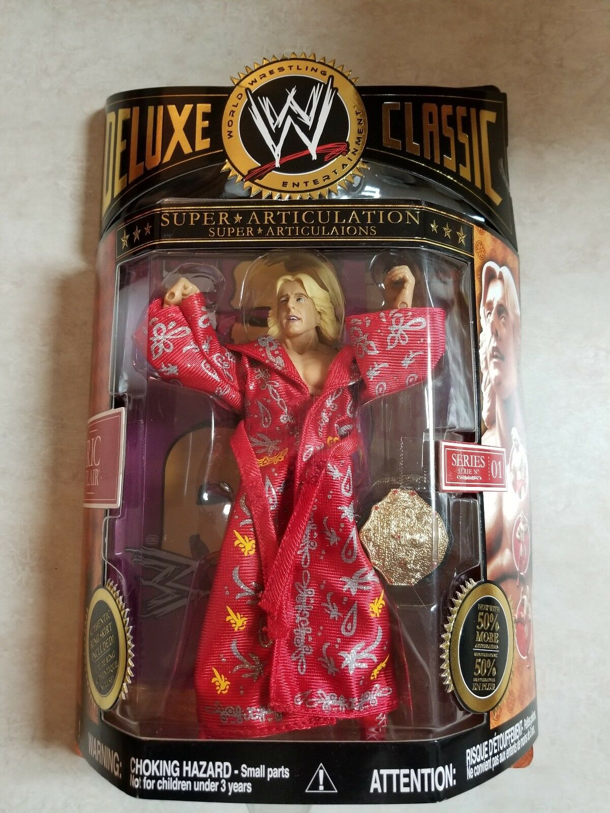 WWE DELUXE CLASSIC SUPER ARTICULATION RIC FLAIR SERIES 01