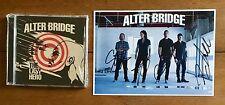 Alter Bridge - The Last Hero  Cd & Photo Signed Autographed