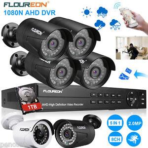 3000TVL 5-in-1 DVR+HDD 8CH CCTV Kit Vidéo Surveillance Sécurité Caméra Extérieur