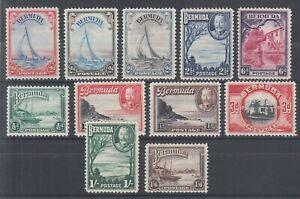 Bermuda-Sc-105-114-MLH-1936-1940-KGV-definitives-complete-set-of-11-VF