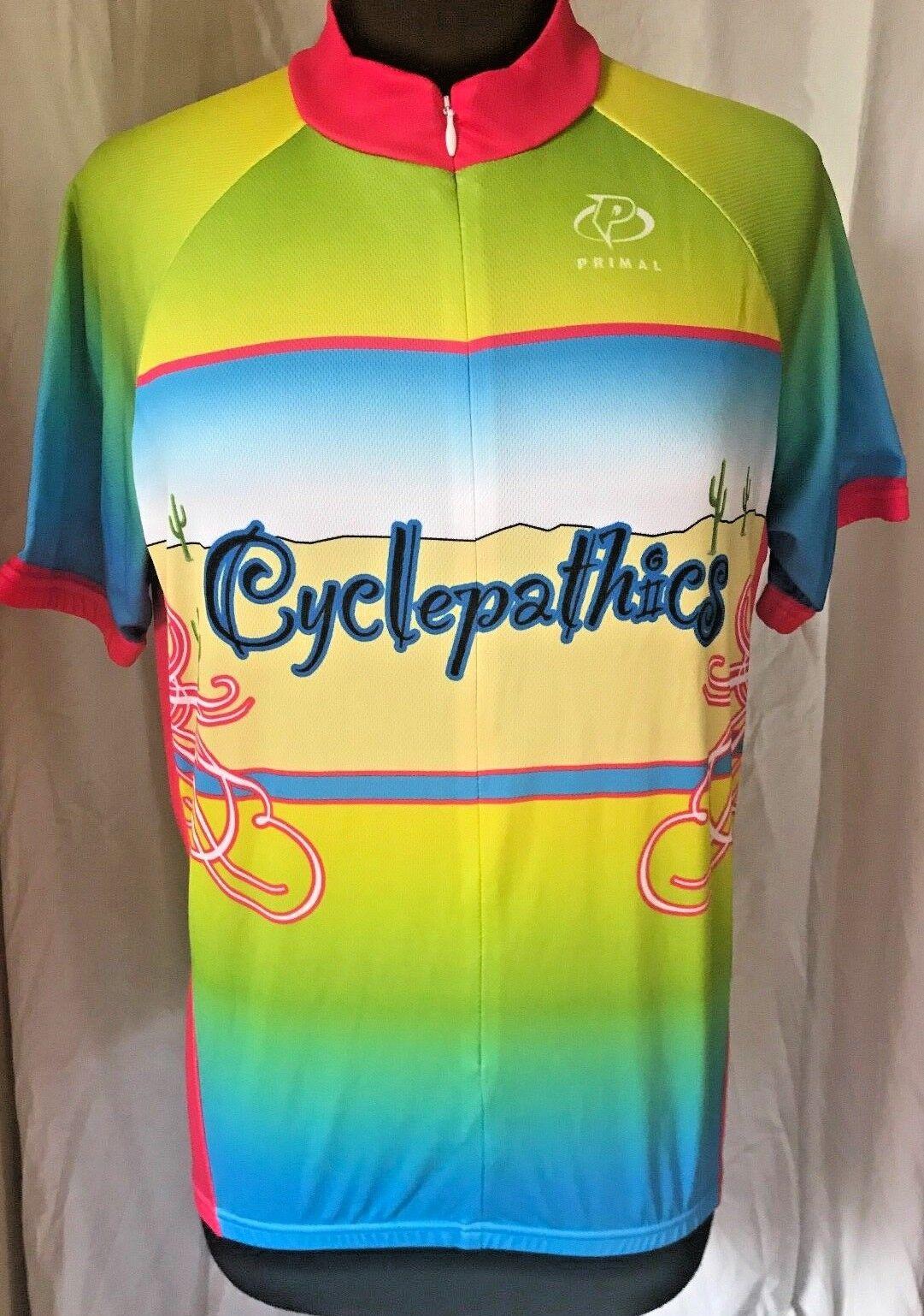 Primal Cycling Jersey Shirt  CYCLEPATHICS  Arizona Desert  Cactus Men's Medium  fantastic quality