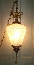 Vintage Mid Century Swag Hanging 3 Way Lamp/Light Art Deco Retro