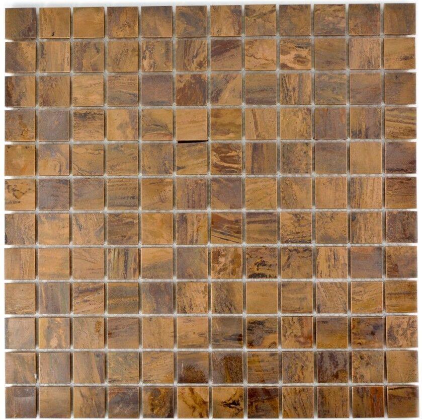Mosaïque carreau cuivre brun cuisine miroir tuiles bain 49-1510_f   10 plaques