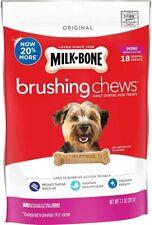 Milk-Bone 7.1 Ounces Brushing Chews Daily Dental Mini 48 Bones Tasty Dog Treats