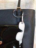 Michael Michael Kors Leather Monogram Charms Lg Aviator In Silver
