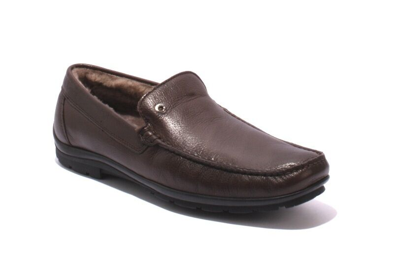 Ernesto Dolani 9640b Brown Leather   Sheepskin Deer Driver Moccasins 47   US 14