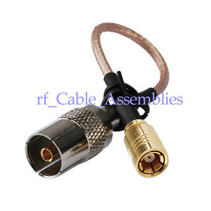 USA-CA RG316 SMB FEMALE to DVB TV Pal Female Coaxial RF Pigtail Cable