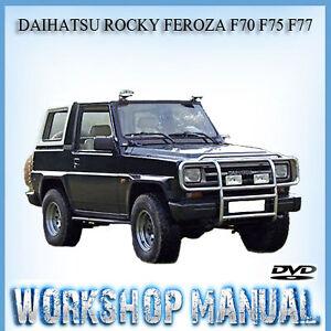 daihatsu rocky feroza f70 f75 f77 workshop repair service manual in rh ebay com au daihatsu rocky workshop manual pdf daihatsu rocky fourtrak workshop manual