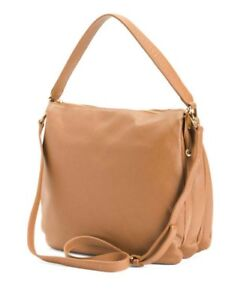 f3407b33cbdf Details about INNUE genuine leather large Hobo Crossbody Made In Italy  Brown MSRP $349 NWT