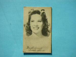 1947-66-TELEVISION-amp-ACTORS-EXHIBIT-CARD-PHOTO-DINAH-SHORE-SHARP-EXHIBITS