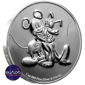 NIUE-2020-2-dollars-NZD-Mickey-et-Pluto-1oz-argent-99-9-Disney