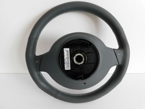 Volant Smart 450 Fortwo Brabus cuir gris blanc Couture de airbag Lifting NEUF