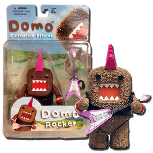 Mezco Domo Planet Rock Band Action Figure Guitar Pink Mohawk Wristbands 2012 NEW