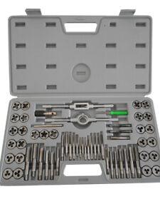 Set de machos y terrajas 32 piezas accesorio herramienta bricolaje taller M3-M12