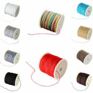 DarkGray Braided Nylon Cord Imitation Silk String Thread 0.8mm about 100Yard