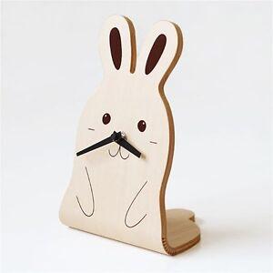 Cute-Rabbit-Animal-Wood-Table-Desk-Clock-Art-Design-interior-Decor-Kawaii-Gift