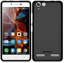 AMZER Exclusive Pudding Matte TPU Case Cover For Lenovo Vibe K5 / Plus - Black
