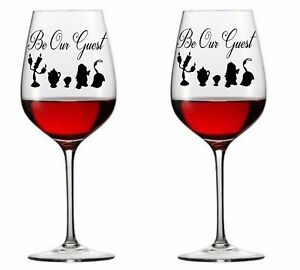 X Wedding Be Our Guest Vinyl Decal Wine Glass Stickers EBay - Wine glass custom vinyl stickers