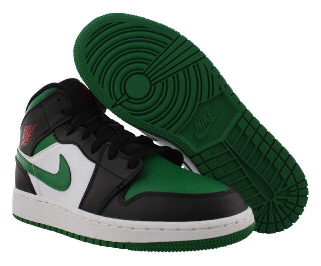 Jordan 1 Mid Pine Green Toe Size 5y GS 5 Grade School 554725 067