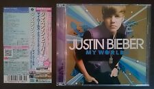 JUSTIN BIEBER My Worlds Deluxe Edition CD+DVD W/Obi UICL 9090 JAPAN + POP