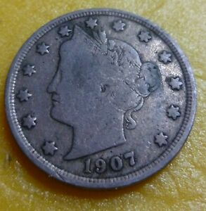 1907 Liberty Head Nickel  #1907 better grade