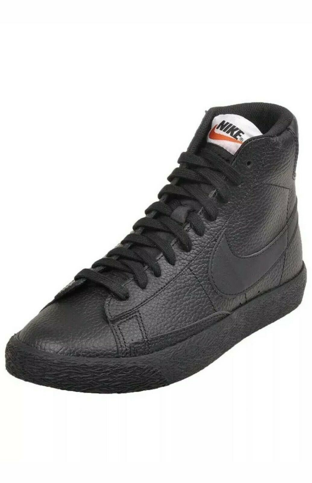 Youth Nike Blazer Mid GS lifestyle Shoes Sneakers Leather Black 895850 001