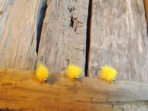 3 X GOLD HEAD SUNBURST FNF BUSH BABY EGG// BLOBS FLY FISHING TROUT FLIES SIZE 8
