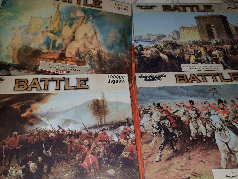 4 New Vintage Battle Puzzles