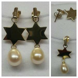 Image Is Loading 14 Carat Earrings Pearls 585er Gold