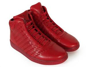 Image is loading Nike-Air-Jordan-Shine-LUX-Red-Premium-Leather-