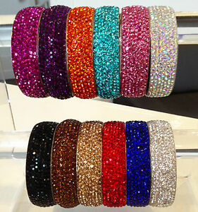0c4ab71b83599 Details about Gorgeous Sparkly Fabulous Rhinestone Crystal Bangles  Beautiful Colours by Chi22