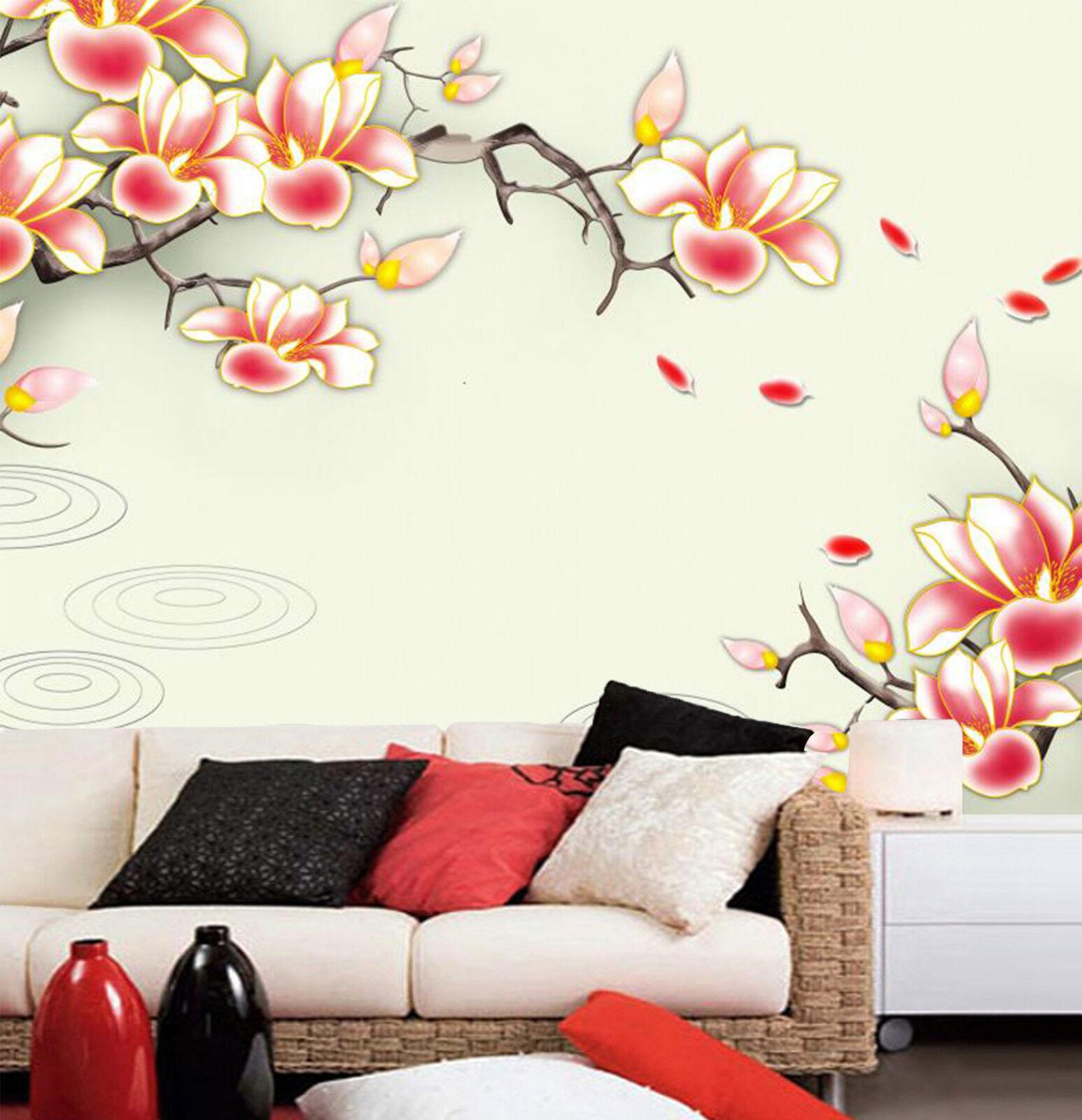 3D Branches.Cartham Photo Papier Peint en Autocollant Murale Plafond Chambre Art