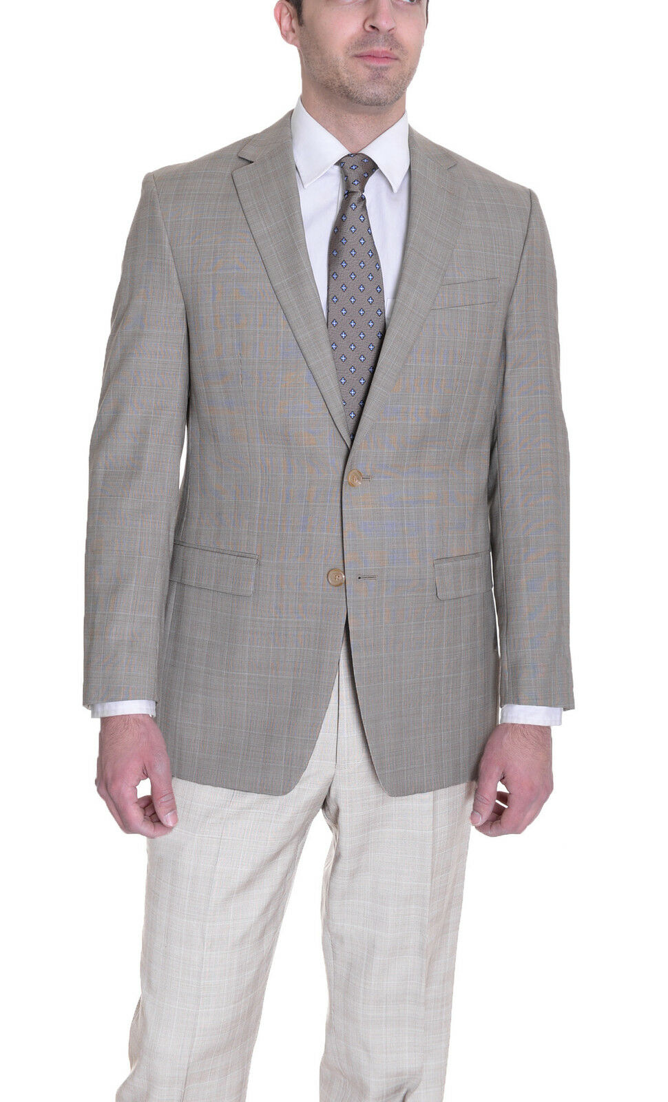 Ralph Lauren Classic Fit Tan Glen Glen Glen Plaid  Wool Blazer f160cc