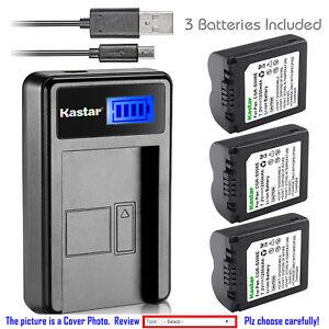 Kastar Batería Cargador LCD Para Panasonic CGA-S006 y Panasonic Lumix DMC-FZ35
