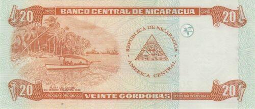 Zelaya//Playa del Caribe//p197 UNC Nicaragua 20 Córdobas 2006