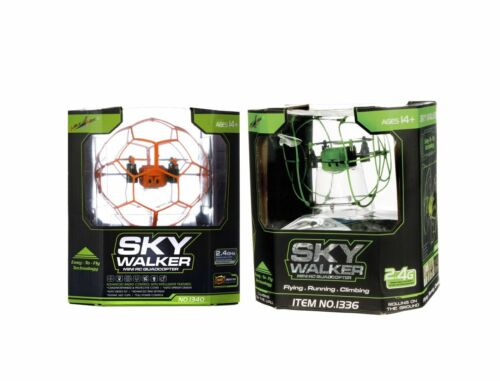 FLYING DRONE 2 COLOURS SKY WALKER QUADCOPTER-2.4GHZ ANTENNA CLIMBING ROLLING