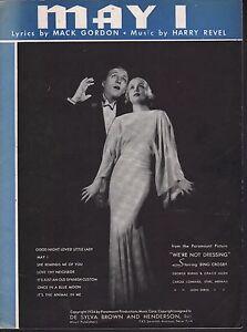 May-I-1934-Bing-Crosby-We-039-re-Not-Dressing-Sheet-Music