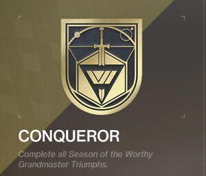 Destiny-Full-Conqueror-Seal-Title-Grandmaster-Nightfall-Xbox-Only