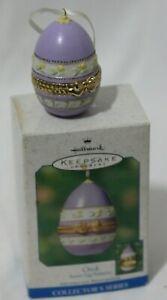 Hallmark-Keepsake-Ornament-Chick-3rd-in-Easter-Egg-Surprise-Series-2001-Purple