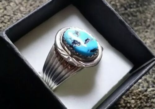 American Indian NAVAJO RING Turquoise /& Sterling  Sizes 9.75 to 12.5