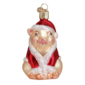 Old World Christmas CHRISTMAS HAM (12130)N Glass Ornament w/OWC Box