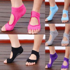 2pair Women Yoga Socks,Barre Socks,Pilates Sock Toeless Non Slip Skid With Grips