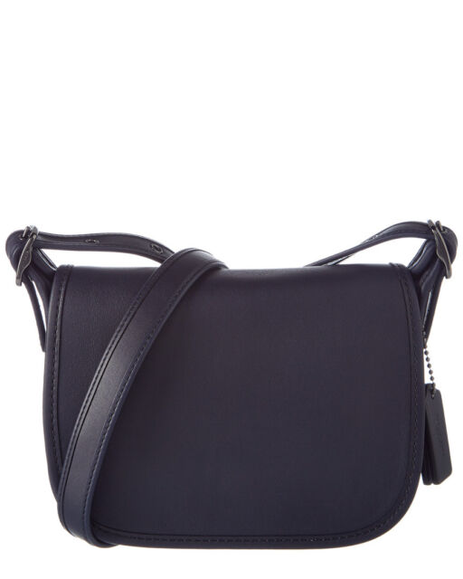 dde3d42f2994 Coach 57731 Glovetanned Leather Saddle 18 Crossbody Bag Navy. +.  219.99Brand  New