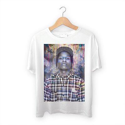 Trill ASAP T Shirt A$AP Rocky Tee S-XXL Hip Hop Rapper Swag Cash Gold Teeth Rap